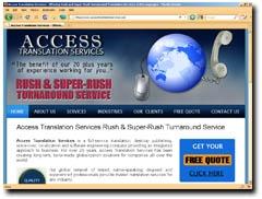 Access Translation Services Rush & Super-Rush Turnaround Service